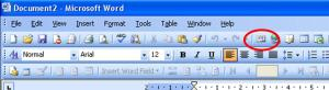 The Voice Recorder icon in Word