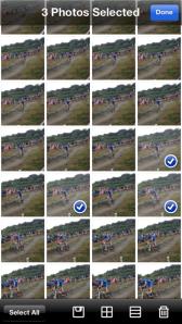 Screenshot of the BurstMode app