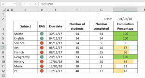 Image showing a simple RAG system created in Excel